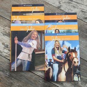 """Six American Girl """"Julie"""" Books"""